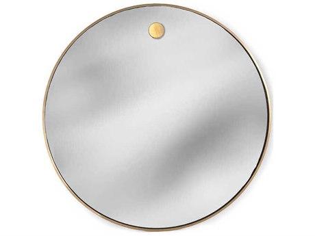 Regina Andrew Polished Brass 36'' Wide Round Wall Mirror