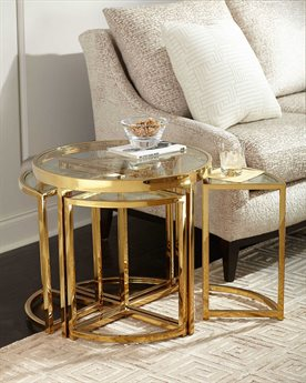 Regina Andrew Majestic Gold 24'' Wide Round End Table