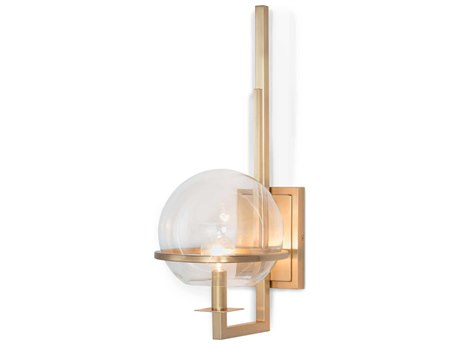 Regina Andrew Saturn Natural Brass 8'' Wide Wall Sconce