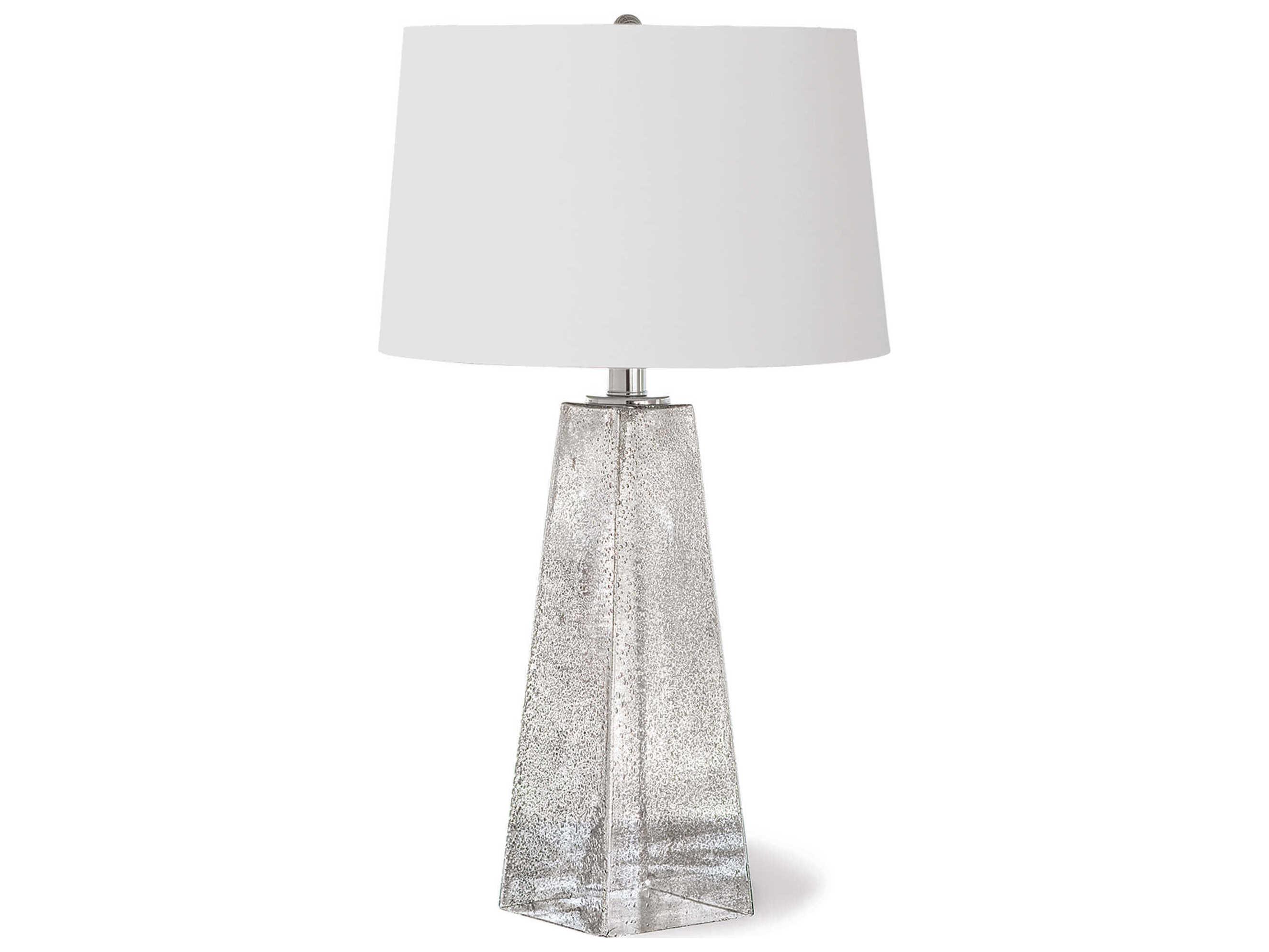 Regina Andrew Stardust Glass Antique Silver Buffet Lamp