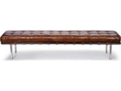 Regina Andrew Cigar Tufted Gallery Bench