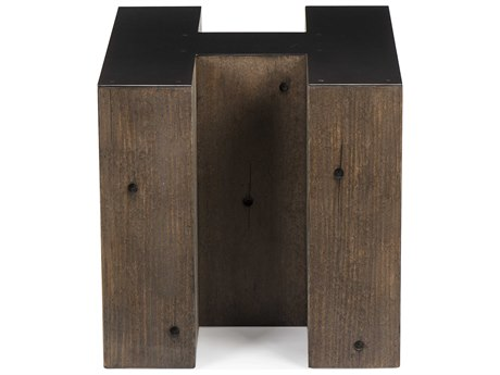 Resource Decor Alphabet Gunmetal with Weathered Pallet 18''W x 20''D Letter-H End Table