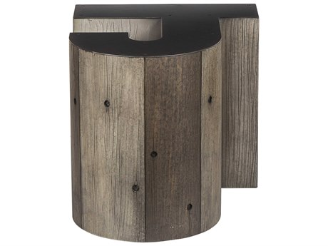 Sonder Distribution Alphabet Gunmetal with Weathered Pallet 18''W x 20''D Letter-J End Table