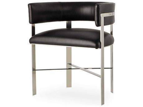 Sonder Distribution Art Black & Stainless Steel Dining Arm Chair