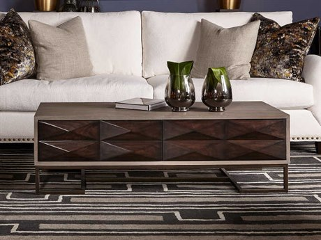 Sonder Distribution Casey Grey Oak & Dark Walnut 52''W x 24''D Rectangular Coffee Table