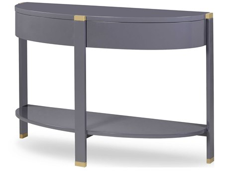 Sonder Distribution Silver 47'' Wide Demilune Console Table RD1501126