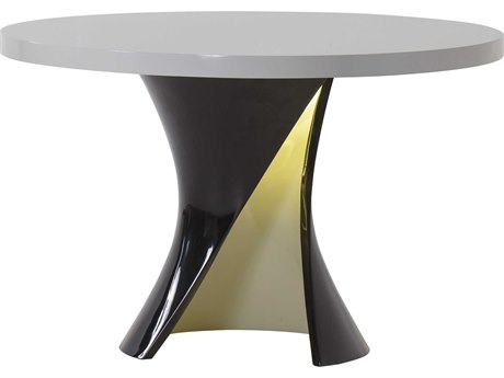 Sonder Distribution Ivory / Black 47'' Wide Round Dining Table