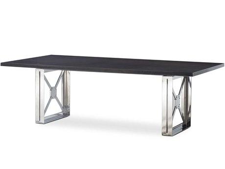 Sonder Distribution Black / Silver 98'' Wide Rectangular Dining Table