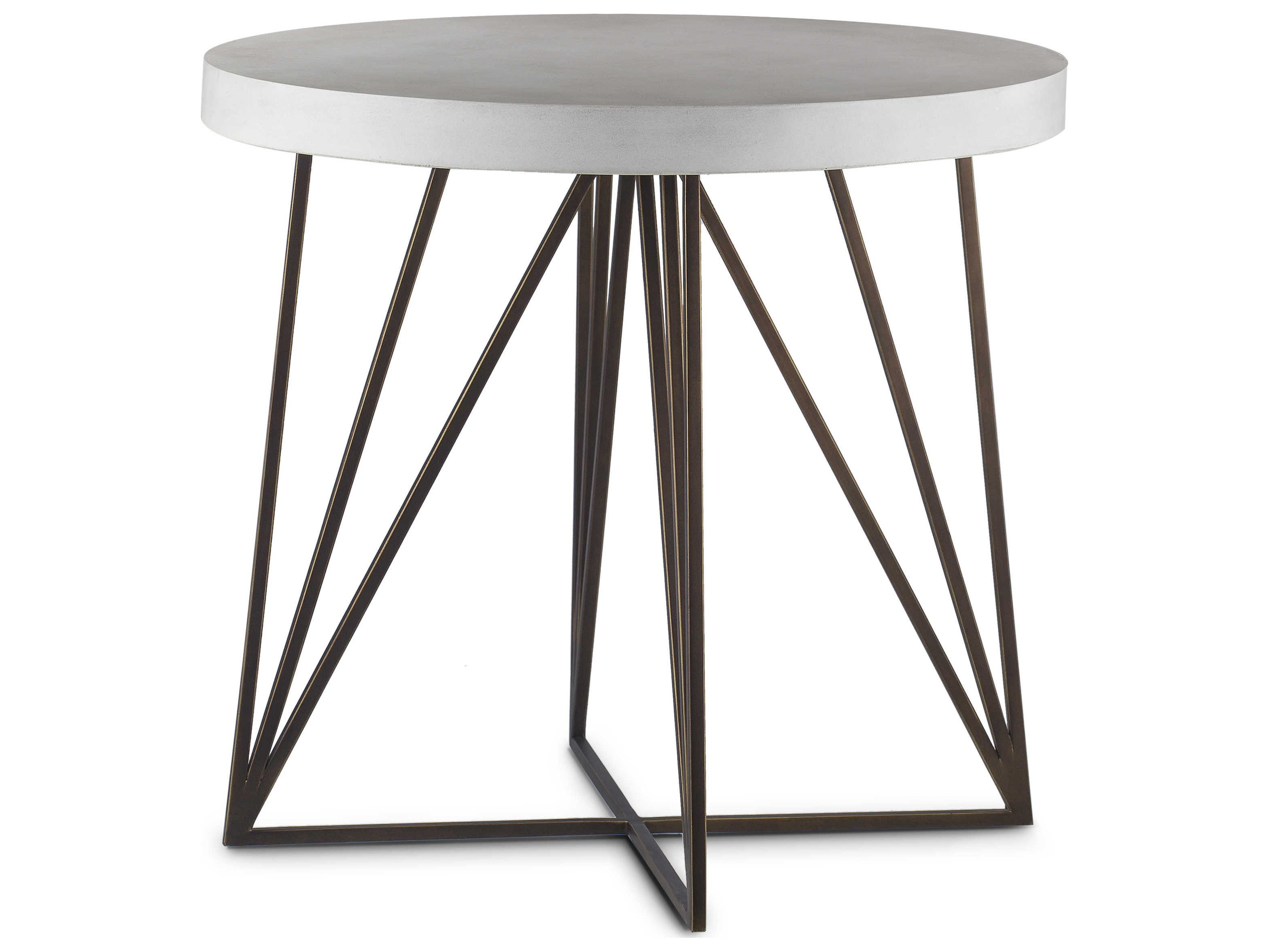 Prime Sonder Distribution Brown Ivory 26 Wide Round End Table Gmtry Best Dining Table And Chair Ideas Images Gmtryco