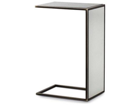 Resource Decor Black 14'' Wide Rectangular End Table