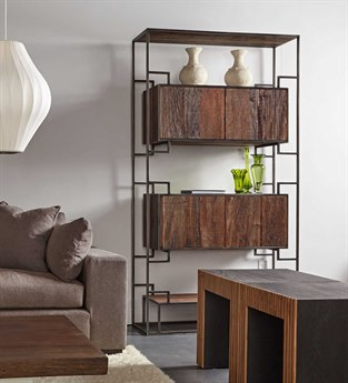 Sonder Distribution Juana Natural Wood with Black Steel Bookcase