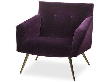 Resource Decor Kelly Deep Purple Accent Chair RD1402010