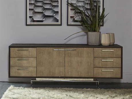 Sonder Distribution Latham Peroba with Textured Resin Faux Shagreen 72''W x 18''D Rectangular Credenza RD0704259