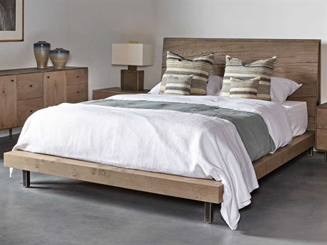 Sonder Distribution Matilda Silver Knotty Oak Queen Size Platform Bed