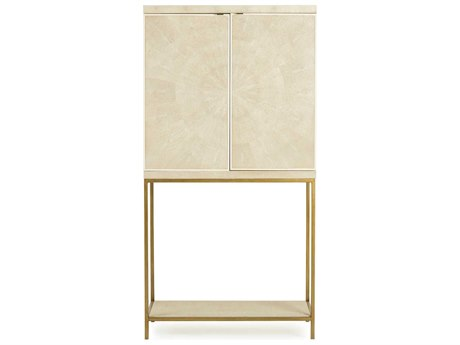 Resource Decor Melissa Cream Shagreen & Lacquer Bar Cabinet RD0804096