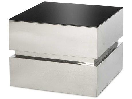 Sonder Distribution Morgan Silver & Black 24'' Wide Square End Table