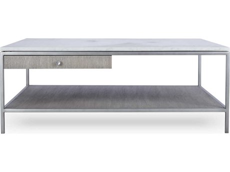 Resource Decor Paxton Silver Oak with Brushed Nickel 42'' Wide Square Coffee Table RD0801235