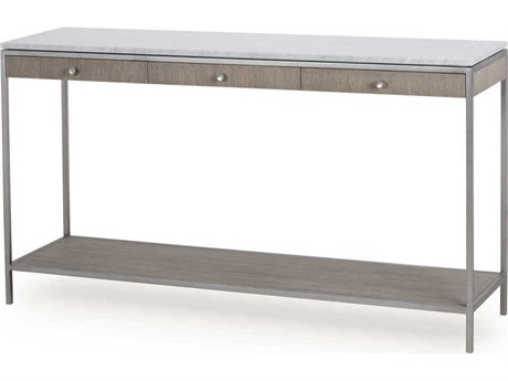 Sonder Distribution Paxton Silver Oak with Brushed Nickel 54''W x 14''D Rectangular Console Table