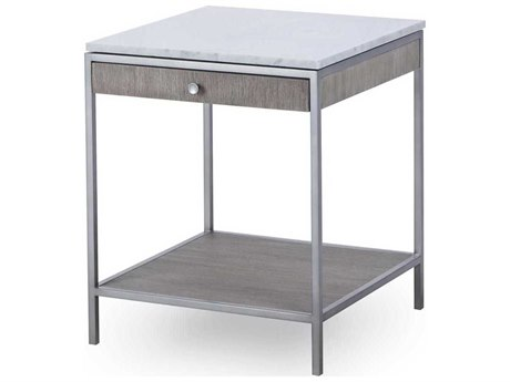 Resource Decor Paxton Silver Oak with Brushed Nickel 20'' Wide Square End Table RD0801237