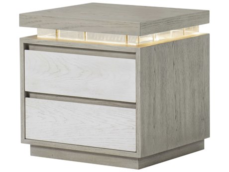 Resource Decor Ivory / Silver 2 Drawers Nightstand