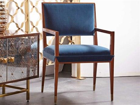 Resource Decor Reform Vana Blue Velvet Dining Arm Chair RD1302071