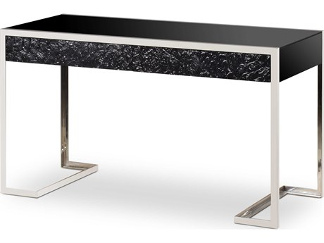 Resource Decor Black / Silver Secretary Desk RD1501119