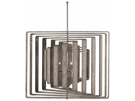 Sonder Distribution Spiral Driftwood with Stainless Steel Six-Light 42'' Wide 11-Layer Chandelier RD1007023