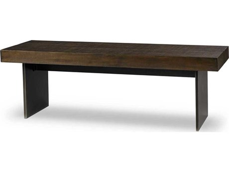 Sonder Distribution Tribeca Dark Stained Rustic Louro Preto Accent Bench RD0702170