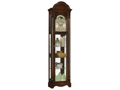 Ridgeway Clocks Clarksburg Country Maple Curio Grandfather Clock RWC2041