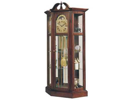 Ridgeway Clocks Richardson I Antique Cherry Curio Grandfather Clock RWC9701