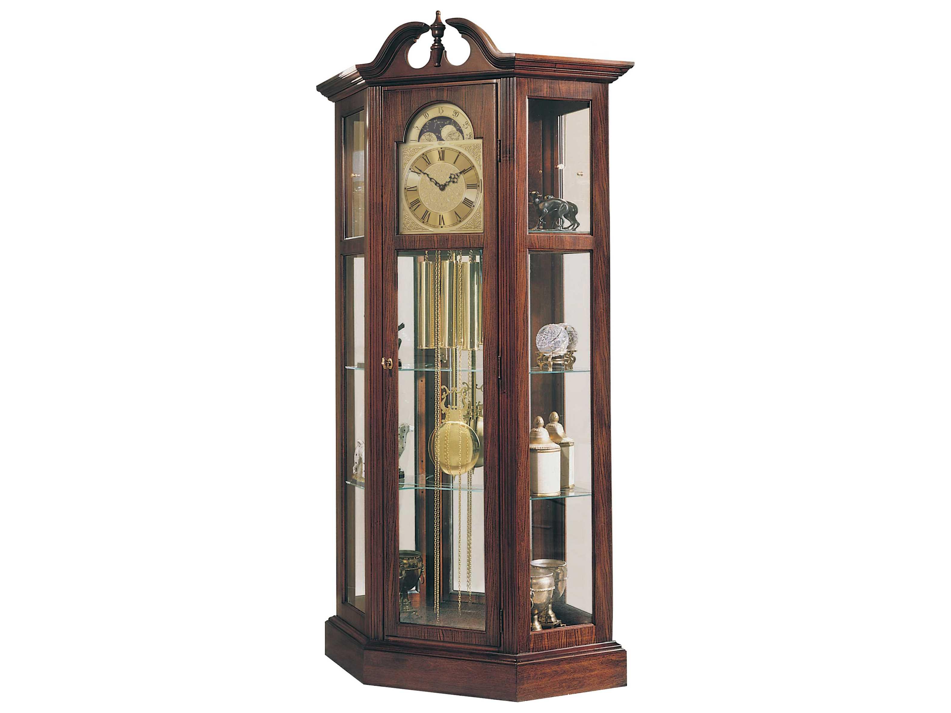 Ridgeway Clocks Richardson I Antique Cherry Curio Grandfather Clock