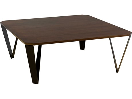 Saloom Furniture Ace Occasional Walnut 42'' Wide Square Coffee Table SLMMZWP4242ACEQSWALNUT