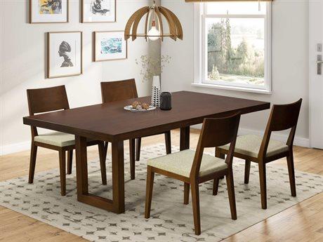 Saloom Furniture Oracle Dining Room Set SLMMDWS4272EMEQSWALNUTSET