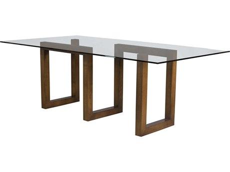 Saloom Furniture Serpent Peter Francis Walnut 72'' Wide Rectangular Dining Table
