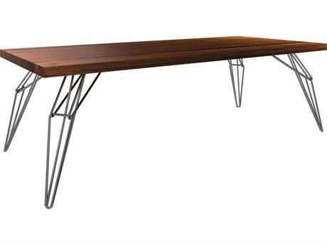 Saloom Furniture Peter Francis Black Walnut 80'' Wide Rectangular Dining Table