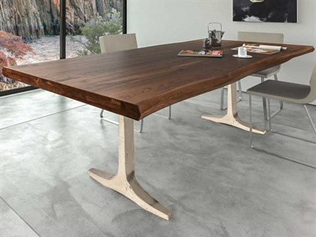 Saloom Furniture Peter Francis Black Walnut 80'' Wide Rectangular Dining Table