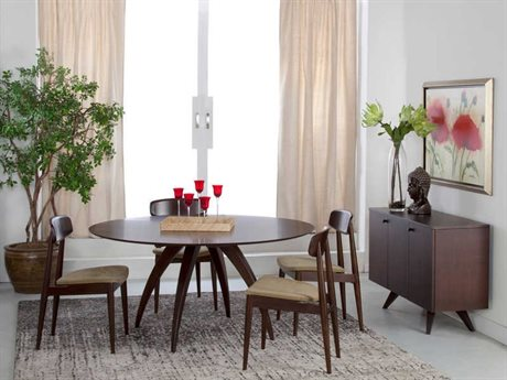 Saloom Furniture Skyline Dining Room Set SLMSCWO4848ELLSET