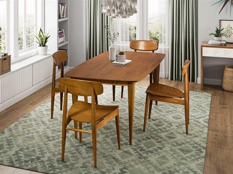 Saloom Furniture Skyline Dining Room Set SLMSCWQ3672CONQSFLAXSET