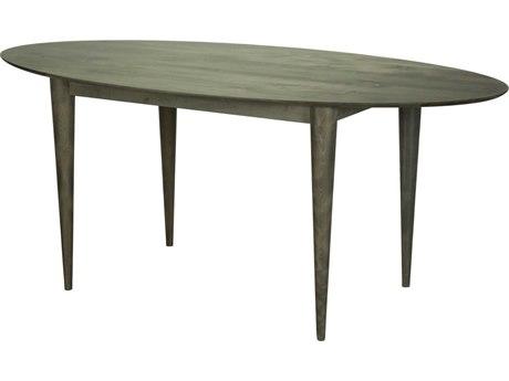Saloom Furniture Skyline 80'' Wide Oval Dining Table