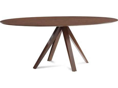 Saloom Furniture Skyline 80'' Wide Oval Dining Table SLMSKWE4280NOV
