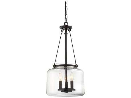 Savoy House Akron English Bronze Three-Light 12'' Wide Pendant Light SV79006313