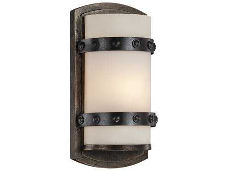 Savoy House Alsace Reclaimed Wood Wall Sconce with White Etched Glass SV995461196
