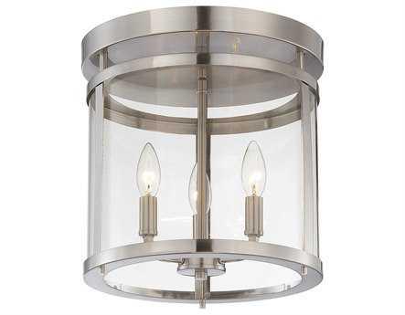 Savoy House Americana Penrose Satin Nickel Three-Light Semi-Flush Mount Light SV610433SN