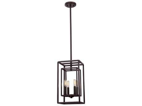 Savoy House Berlin English Bronze Four-Light 9.25'' Wide Mini-Chandelier with Metal Candle Cover