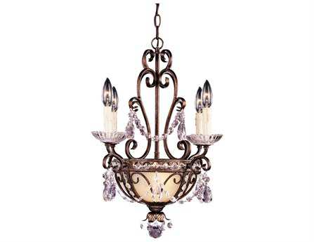 Savoy House Boutique New Tortoise Shell & Silver Gold Six-Light 18'' Wide Mini Chandelier SV1450548