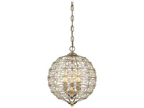 Savoy House Mini Chandelier Aurora Three-Light 12'' Wide Mini-Chandelier SV190683100
