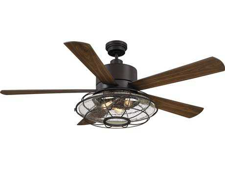 Savoy House Connell English Bronze 56'' Five-Blade Ceiling Fan with Light Kit SV565785WA13