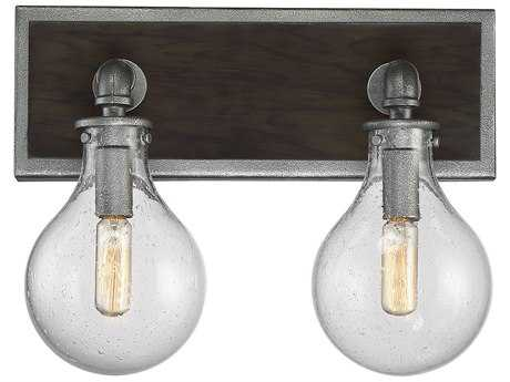 Savoy House Dansk Galvanized Metal Two-Light 13.25'' Wide Vanity Light SV86073290