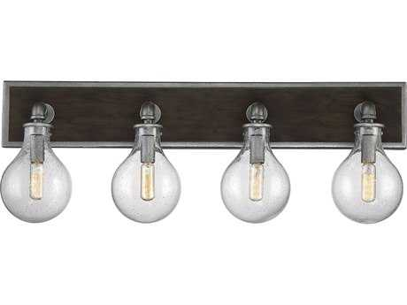 Savoy House Dansk Galvanized Metal Four-Light 28.75'' Wide Vanity Light SV86073490