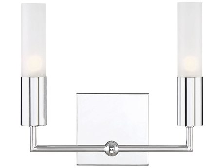 Savoy House Deacon Polished Chrome Glass Vanity Light